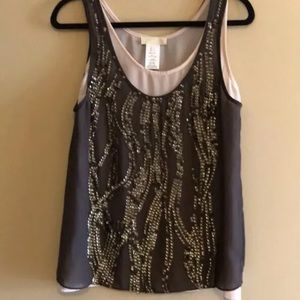 MM Couture Layered Sequin Tank Top